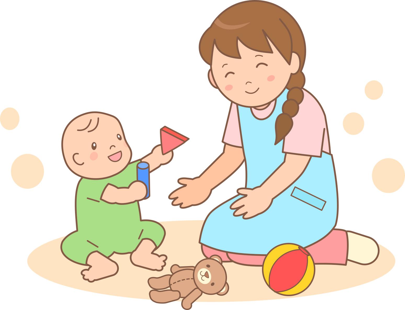 0歳児保育室 環境構成