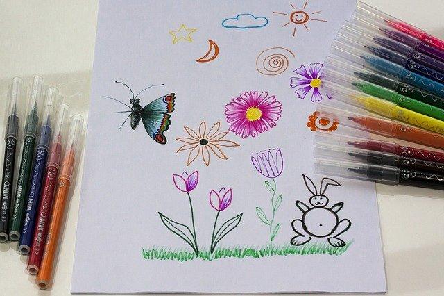 5歳児 絵画制作